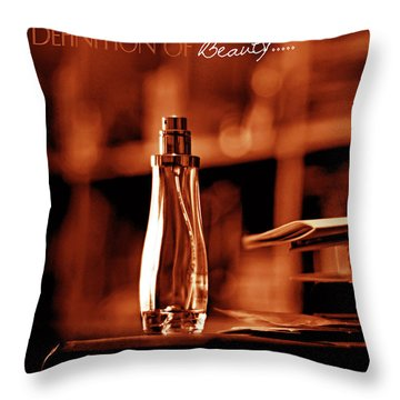 Red Definition Of Beauty Throw Pillow