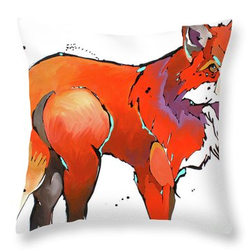Red Handed Throw Pillow