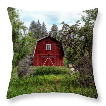 Red House Over Yonder Throw Pillow
