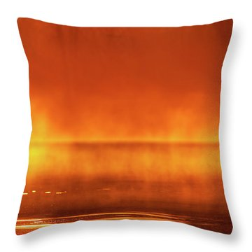 Throw Pillow featuring the photograph Red Mist by Jeff Phillippi