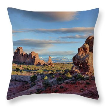 Red Rock Formations Arches National Park  Throw Pillow