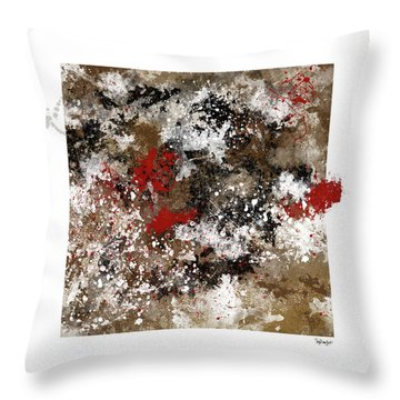 Red Splashes Throw Pillow