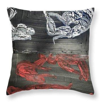 Red Strangles White Cells Throw Pillow