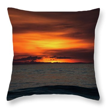 Throw Pillow featuring the photograph Red Sunrise by Lora J Wilson