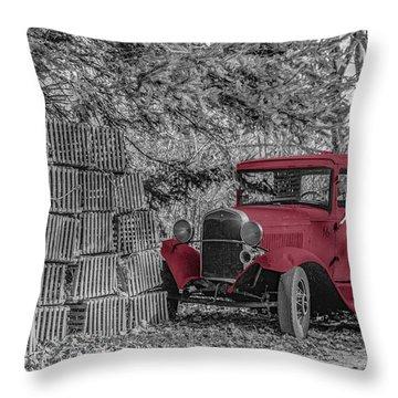 Red Truck Throw Pillow