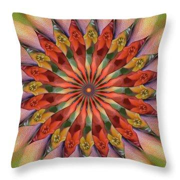 Red Velvet Quillineum Throw Pillow