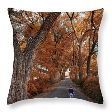 Redhead Fall Walkabout Throw Pillow