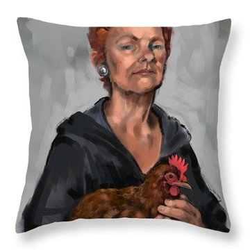 Redheads Throw Pillow