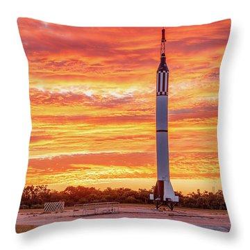 Redstone At Dawn Throw Pillow