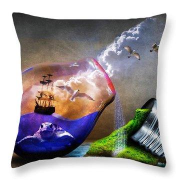 Reducing Power Throw Pillow