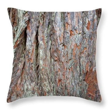 Throw Pillow featuring the photograph Redwood Bark by Mark Duehmig