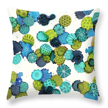 Throw Pillow featuring the painting Reef Encounter #5 by Kathryn Riley Parker