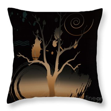 Night Reflections  Throw Pillow