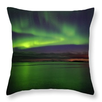 Reflected Aurora Throw Pillow