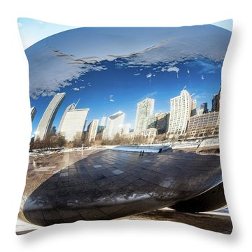 Reflecting Bean Throw Pillow