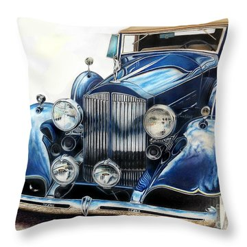 Reflection On Blue Throw Pillow