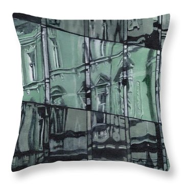 Reflection On Modern Architecture Throw Pillow
