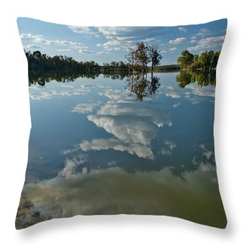 Reflections By The Lake Throw Pillow