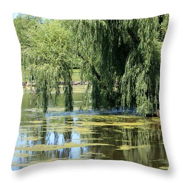 Reflections From Mother Willow Throw Pillow