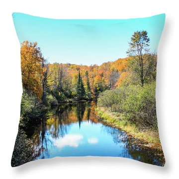 Reflections Of Fall In Wisconsin Throw Pillow