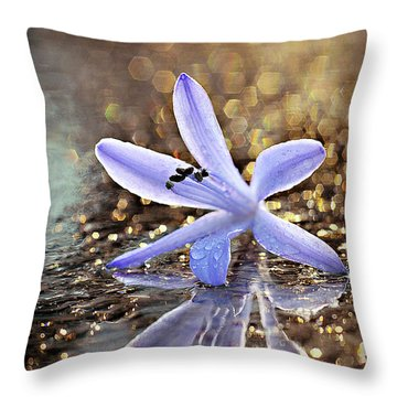 Throw Pillow featuring the photograph Reflections Of Joy by Michelle Wermuth