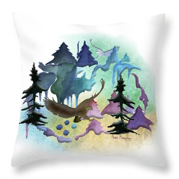 Reflections Of Port Townsend Throw Pillow