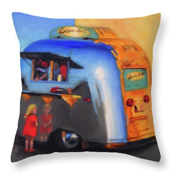 Reflections On An Airstream Throw Pillow