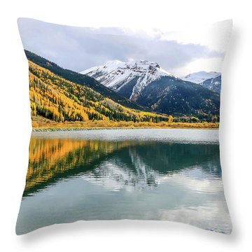 Reflections On Crystal Lake 1 Throw Pillow