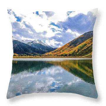 Reflections On Crystal Lake 2 Throw Pillow