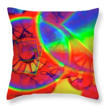 Refracting The Wheel Throw Pillow