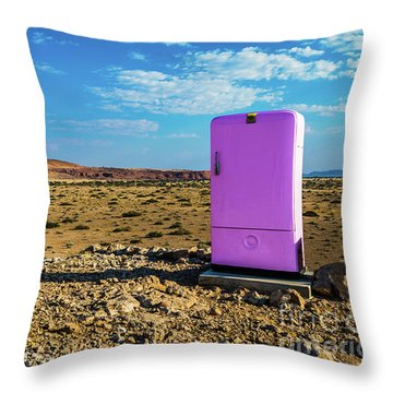 Refreshments Pit Stop In The Middle Of Nowhere Throw Pillow