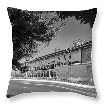 Regions Field Home Of The Barons Throw Pillow