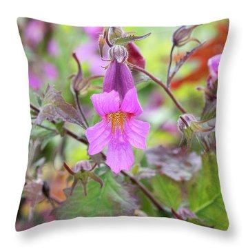 Rehmannia Walberton's Magic Dragon Flower  Throw Pillow