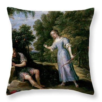 'reinaldo Enamorado De Armida, En La Isla De Orontes', 1628-1630, Flemish School,... Throw Pillow