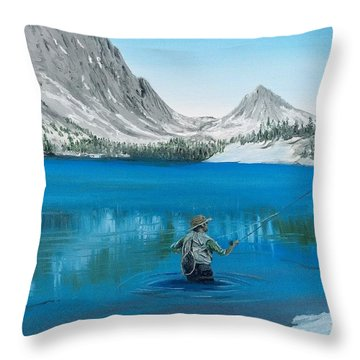 Throw Pillow featuring the painting Relaxing At Skelton by Kevin Daly