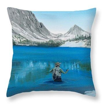 Relaxing At Skelton Throw Pillow