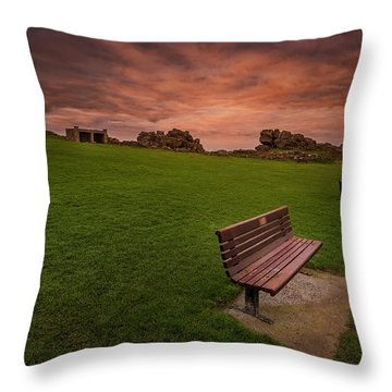Relaxing At St Ives Cornwall Throw Pillow