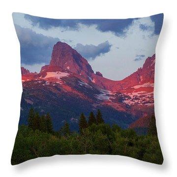 Reliving The Tetons Throw Pillow