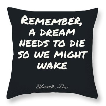 Throw Pillow featuring the digital art Remember  by Edward Lee