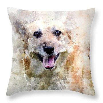 Remember The Four-legged Smile Throw Pillow