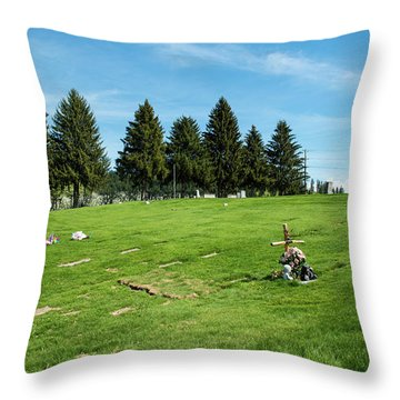 Remembering A Child In Peshastin Throw Pillow