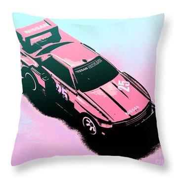 Retro Race Colours Throw Pillow