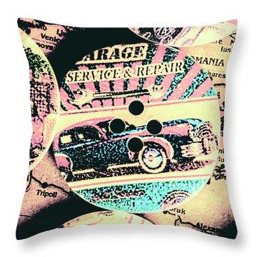Retro Roadvival Throw Pillow