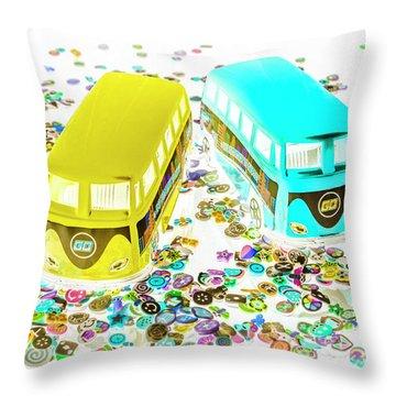 Volkswagen Camper Photographs Throw Pillows