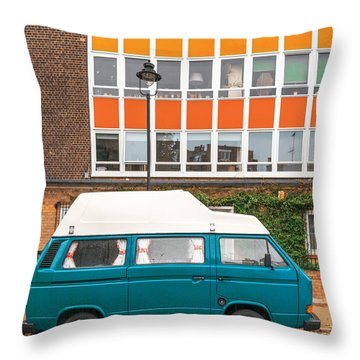 Retro Vibes Throw Pillow