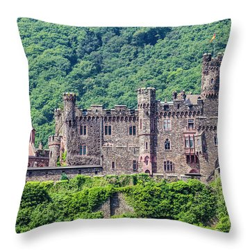 Rheinstein Castle - 2 Throw Pillow