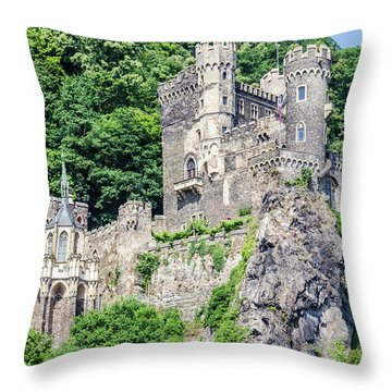 Rheinstein Castle Throw Pillow