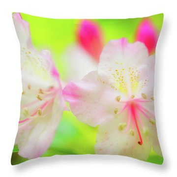 Rhododendron 5 Throw Pillow