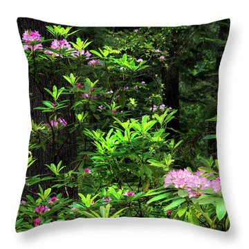 Rhododendron Contrast Throw Pillow