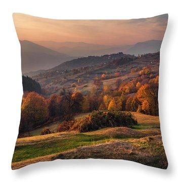 Rhodopean Landscape Throw Pillow